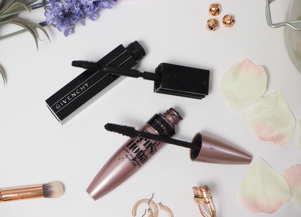 Givenchy noir Interdit vs Maybelline Lash Sensational Mascara