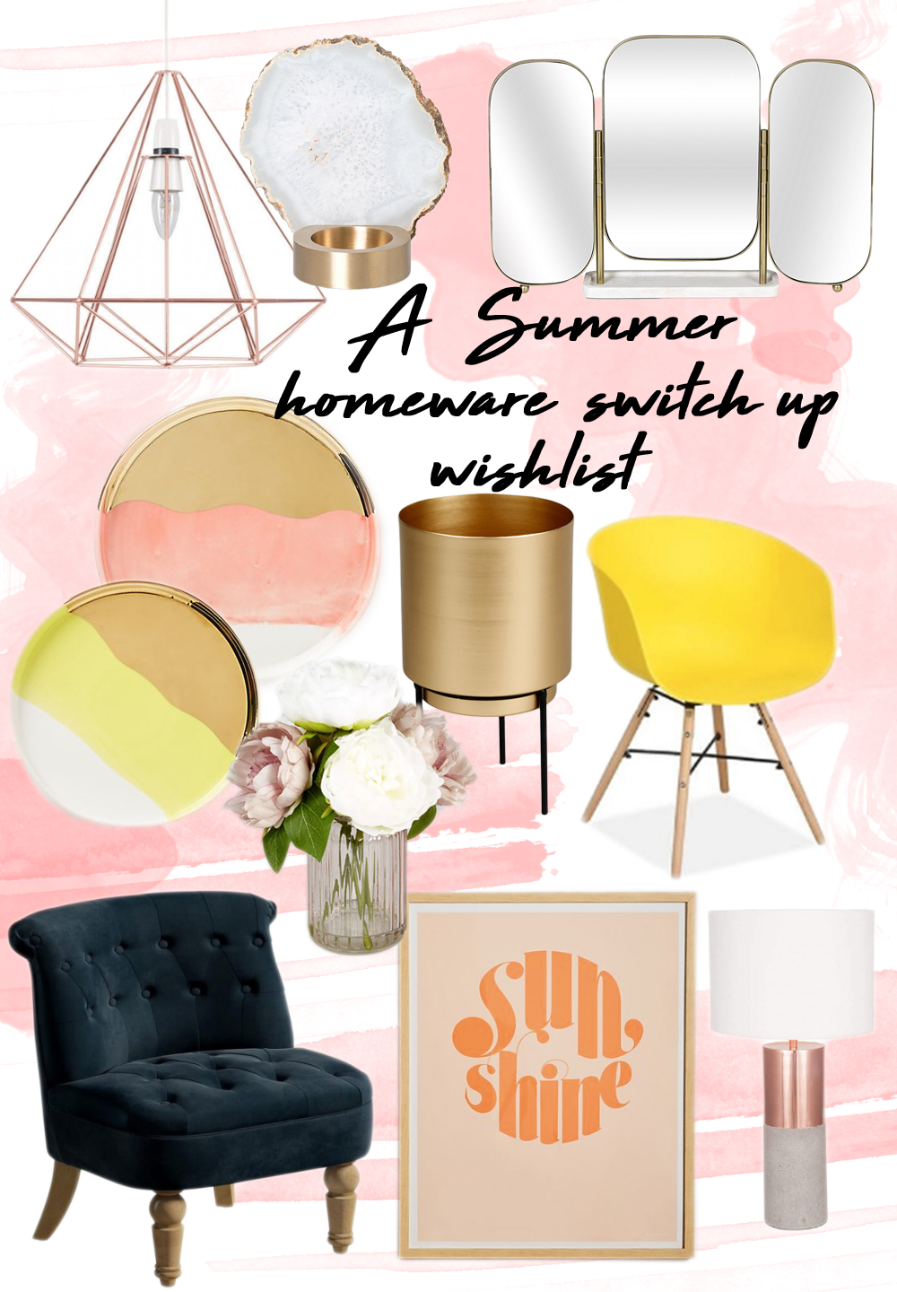 A summer homeware switch-up wishlist // LUCY-COLE