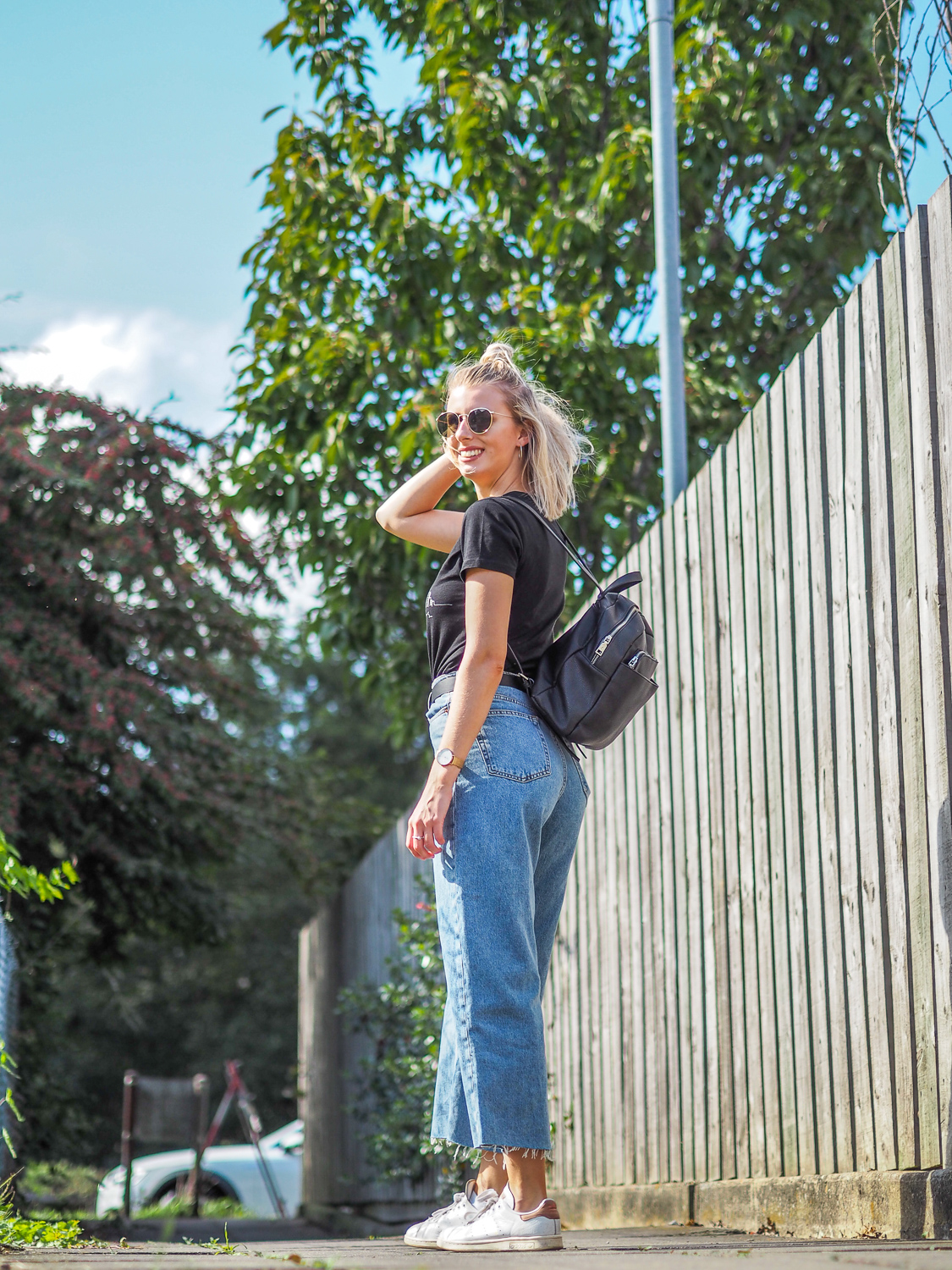 Trying something new with cropped wide leg jeans | LUCY-COLE