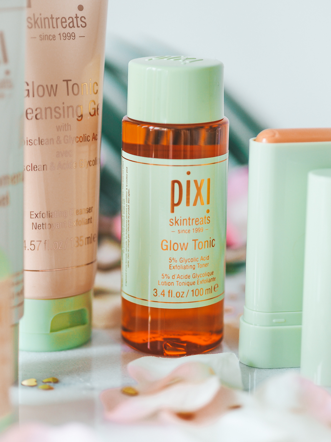 Product shot of the Pixi glow tonic