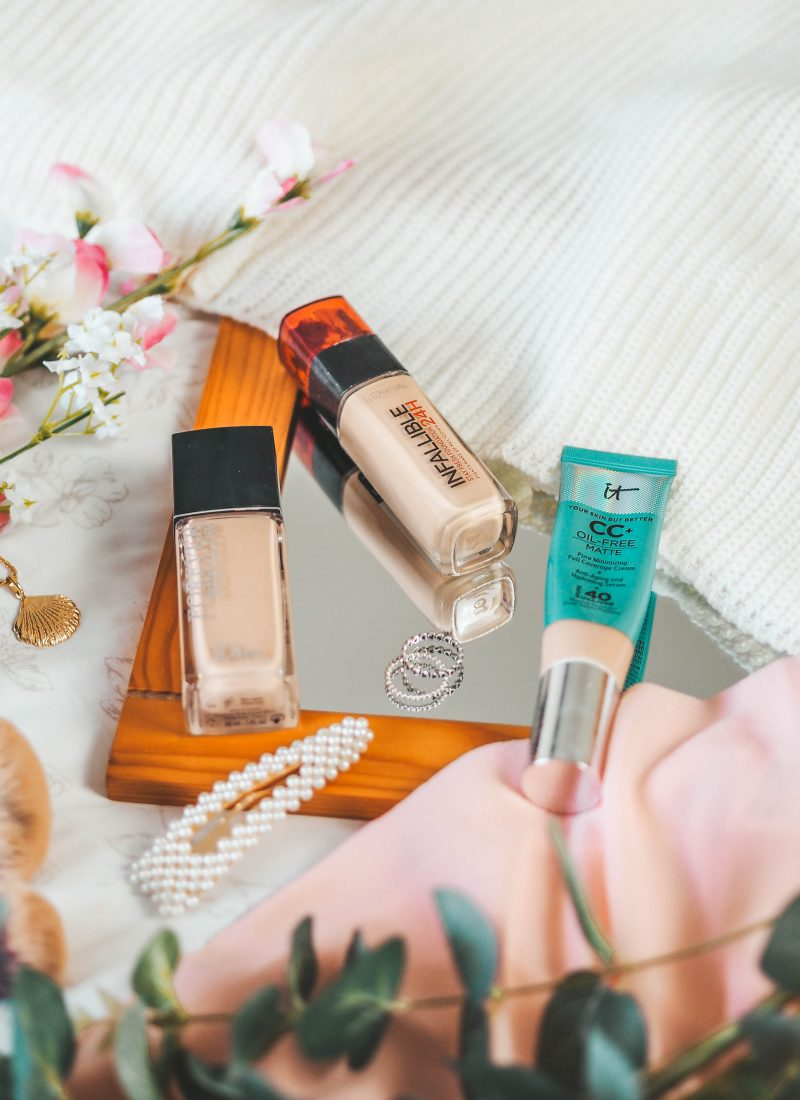 The 3 foundations I'm using on repeat right now